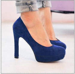 ladies sexy high heels women shoes 9089 autumn fashion thick heels sexy blue model platform high-heeled single(China (Mainland))