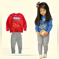 Cartoon Children suits Baby leisure T-shirt sets kids boy/girl long sleeve Tshirt+pants 2 pieces set mix each size 4pcs/lot