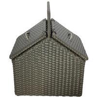 Flip   storage  cleaning    rattan basket customize