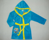 Free shipping/2013 new design/HOT!!! BOB THE BUILDER/bathrobe/ ninght wear/ baby clothing size:2Y-6Y-8Y