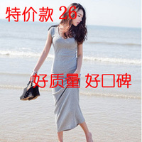 2013 summer back strap cross tieclasps full dress slim one-piece dress beach dress formal dress female