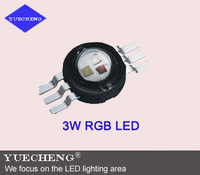 high lumen 6pin 3W  high power rgb led best quality 3w rgb led lamp beads with 6pin rgb led light source free shipping