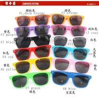 50pcs/lot HOT Fashion Cool candy color meters multicolour Nerd Glasses sunglasses free shipping
