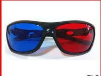 Free Shipping , Red blue 3D glasses Stereo Lens Full Frame 3D Movies Games Computer Special