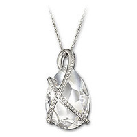 Wholesale Austrian Rhinestone Crystal North Pendant Necklace with Rhodium-plated Chain Free Shipping
