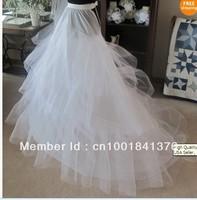 High Quality 4 Tier Wedding Crinoline Petticoat w/Train wedding dress Bridal Accessories