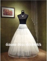 New White 3-Hoop 1 layers Petticoat/Underskirt/underdress/slip wedding dress petticoat crinoline Bridal Accessories