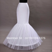 Fishtail cheap Mermaid Cocktail Bridal Petticoat skirt Underskirt white1 Hoop Wedding dress Crinoline Slip tunic skirt white new