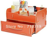 Free shipping DIY wooden Home Storage Boxes desktop cosmetic jewelry stationery storage Drawers