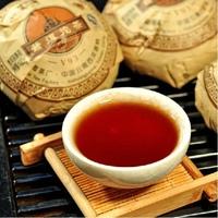 5PCS Pu erh ripe DaYi tea TuoCha V93 2009 MengHai company shu cha YunNan big leaves original free shipping chai 500g