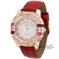 Marisa fashion strap large dial multicolour rhinestone fashion table women's watch ladies watch JU-017