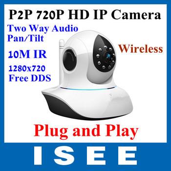 Vstarcam P2P Plug and Play IR 720P MegaPixel HD Pan/Tilt  Wireless WiFi CCTV IP Camera  TF Card Slot and IR Cut,Two Way Audio