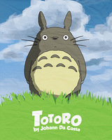 "02 my neighbor totoro cartoon movie 24""x30"" Poster"