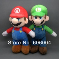 "Free Shipping 2/Lot Super Mario Bros. Stand MARIO & LUIGI Plush Doll Stuffed Toy 10"" Wholesale And Retail"