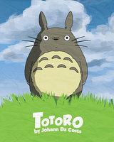 """02 my neighbor totoro cartoon movie 14""""x17"""" SS Poster"""