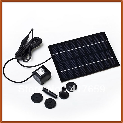 Solar Pond Water Pump Garden Rockery Fountain Kit Brushless Wholesale(China (Mainland))