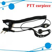 Free shipping walky talky earpiece for UV-5R TK-3107 TK2107 TK-3207 TH-F9 two way radios TK 2307 TK3307 TK3107