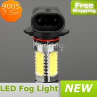 7.5W LED 9005 HB3 FOG LIGHTS HIGH POWER BULBS SUPER WHITE DAYTIME LAMPS,FREE SHIPPING Car LED Fog Lamp 9005,Car LED Fog Bulb