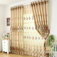 New arrival 8.5 champagne color quality living room curtain fashion cutout screens faux silk Specific pricing, please contact me