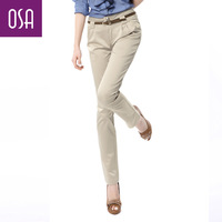 Osa spring and autumn mid waist formal skinny pants pencil casual pants long trousers Women k23019