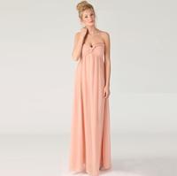 FREE SHPPING Pleated bust maxi dress ultra long length full dress formal dress bridesmaid dress