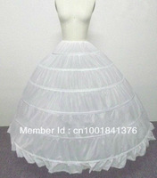 New white 6 hooped wedding bridal petticoat underskirt ****Hot Sale!!!