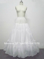 Free shipping A-Line Full Gown 4 Layer No Hoop Floor-length Slip Style Wedding Petticoats