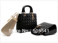 2013  Luxury OL Lady Women Hobo Handbag Tote  Fashion Bags PU Leather Shoulder Bag Elegant Lady Bag