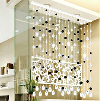Free shopping Crystal bead curtain black compartmentation entranceway finished product