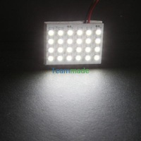 24LED 1210SMD led panel 12VDC Car Interior Light  Reading Panel Lamp LED Bulb T10+BA9S+Dome Three Adaptors Pure White