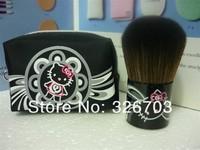 Free Shipping 8 Pieces/Lot New Hello Kitty Makeup Blush Brush +bag   Makeup Tools Free shipping !