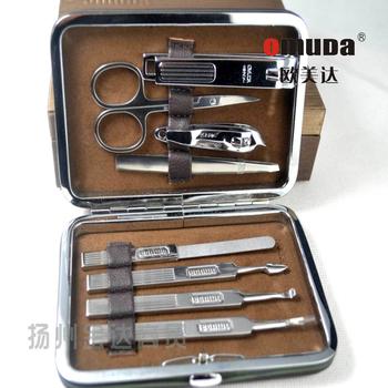 Omeida 33018 beauty nail art manicure set 8 piece set armor tools genuine leather box