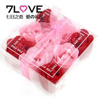 Creative birthday gift to send girls girls boyfriend girlfriend gift July 7th Valentine's day 9 flower square rose