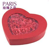 Love 26 rose flower soap gift birthday gift to send Valentine's Day girls boyfriend creative gifts for women's Day