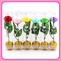 Cylinder 1 flower soap flower carnation on Mother's Day Teacher's teacher send girls marry christmas gifts.
