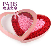 Heart 100 Rose Flower Soap Gift for Valentine's day and the Spring Festival, good new creative gift courtship