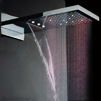 waterfall shower head rainfall shower head led shower head led light shower head