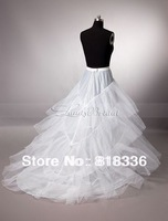 Hot sale Cheapeat  white Train Tail Wedding Crinoline Petticoat Underskirt **** Hot Sale!
