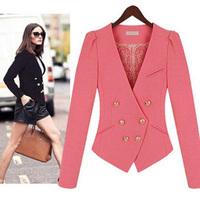 2012 spring and autumn women's lace lining blazer slim blazer small
