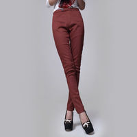 Autumn and winter fashion thickening plus velvet thermal legging pencil pants plus size female trousers fleece pants