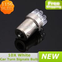 10XCar 1156/382 Tail Brake Turn Signal 3 Colors 9LED Bulb Lamp Light BA15S P21W,Wholesale Corner light,Stop light,Rake Light