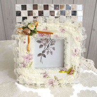 Pearl rustic cloth lace switch protector set socket paste dust cover single and double water