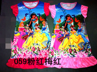 059 Princess 8 pieces in 1 lot baby sleepwear free shipping lovely dress kids pajamas nightgown