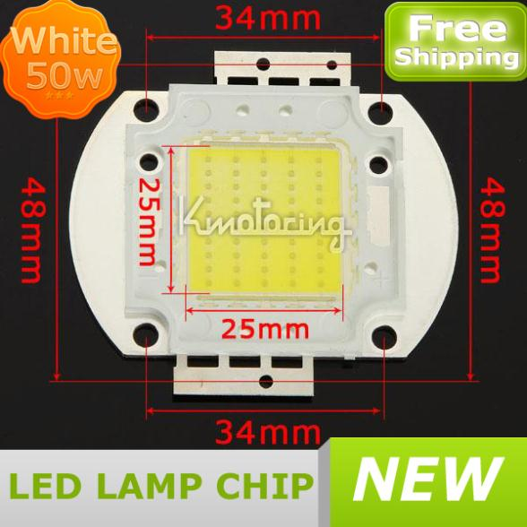 50W Cool White LED Lamp Chip on Board 6000K High Power Bright Light Bulb COB,Wholesale LED Lamp Light Bulb Chip FREE SHIPPING(China (Mainland))