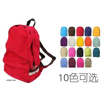 2014 hot sale women  casual canvas bag backpack female school bag canvas  backpack free shipping