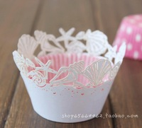 Baking mould cup cake cup cake set cupcake wrapper 60PCS/LOT shell white