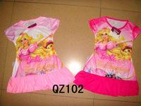 102 babie 8 pieces in 1 lot baby sleepwear free shipping lovely dress kids pajamas nightgown