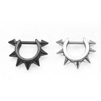 Free Shipping cool fashion Earrings accessories punk medical titanium elsin punk Men unque ear stud cartilage earrings