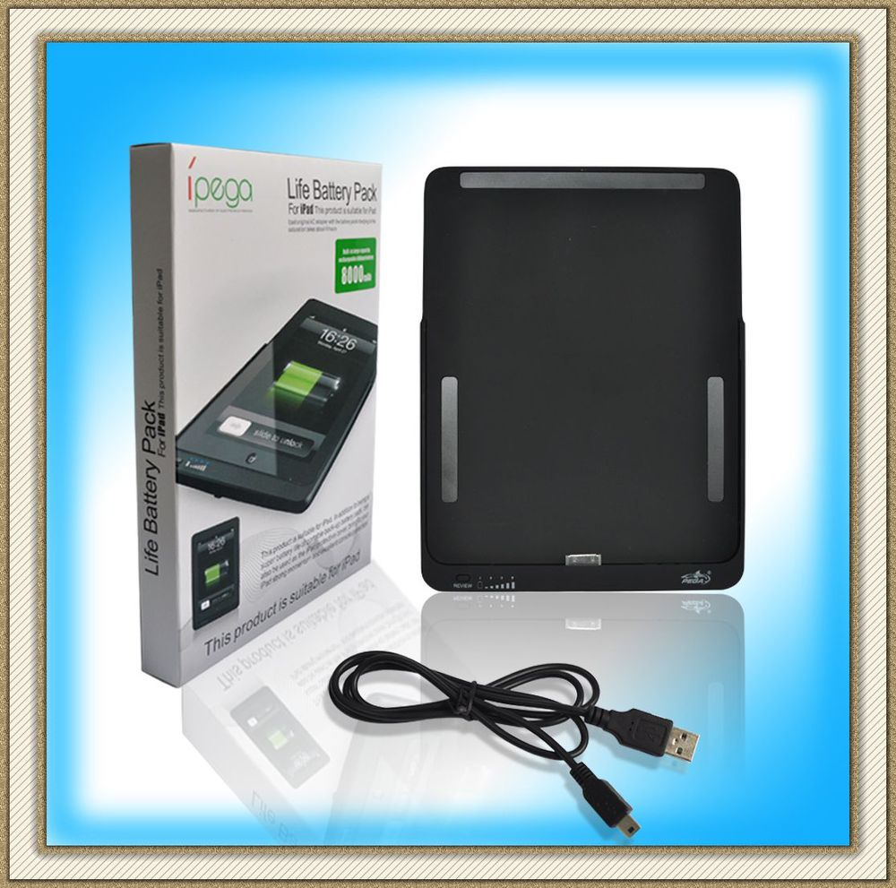 Pass CE Certificate 8000mah Life Battery Pack For Ipad,Recharger External Backup Battery Power Supply For Ipad 2 Free Ship(China (Mainland))