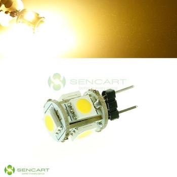 G4 1.2W 65~76lm 3000~3500K 5x5050 SMD LED Warm White Light Lamp (12V)